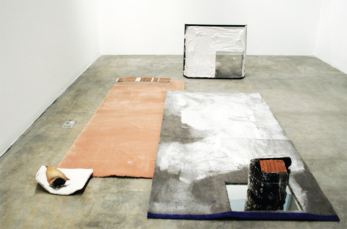Thea Djordjadze, His Vanity Requires No Response, 2011, mixed media. Installation view.