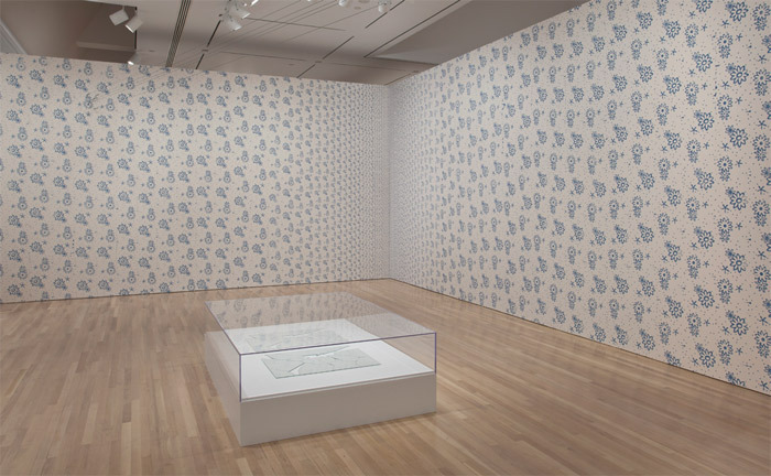 "View of ""All of This and Nothing,"" 2011. Foreground: Jorge Macchi, Vidas paralelas (Parallel Lives), 1998. Background: Jorge Macchi, Vanishing Point, 2005."