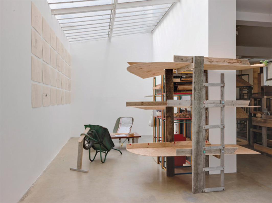 Abraham Cruzvillegas, Study Room, 2010, mixed media. Installation view.