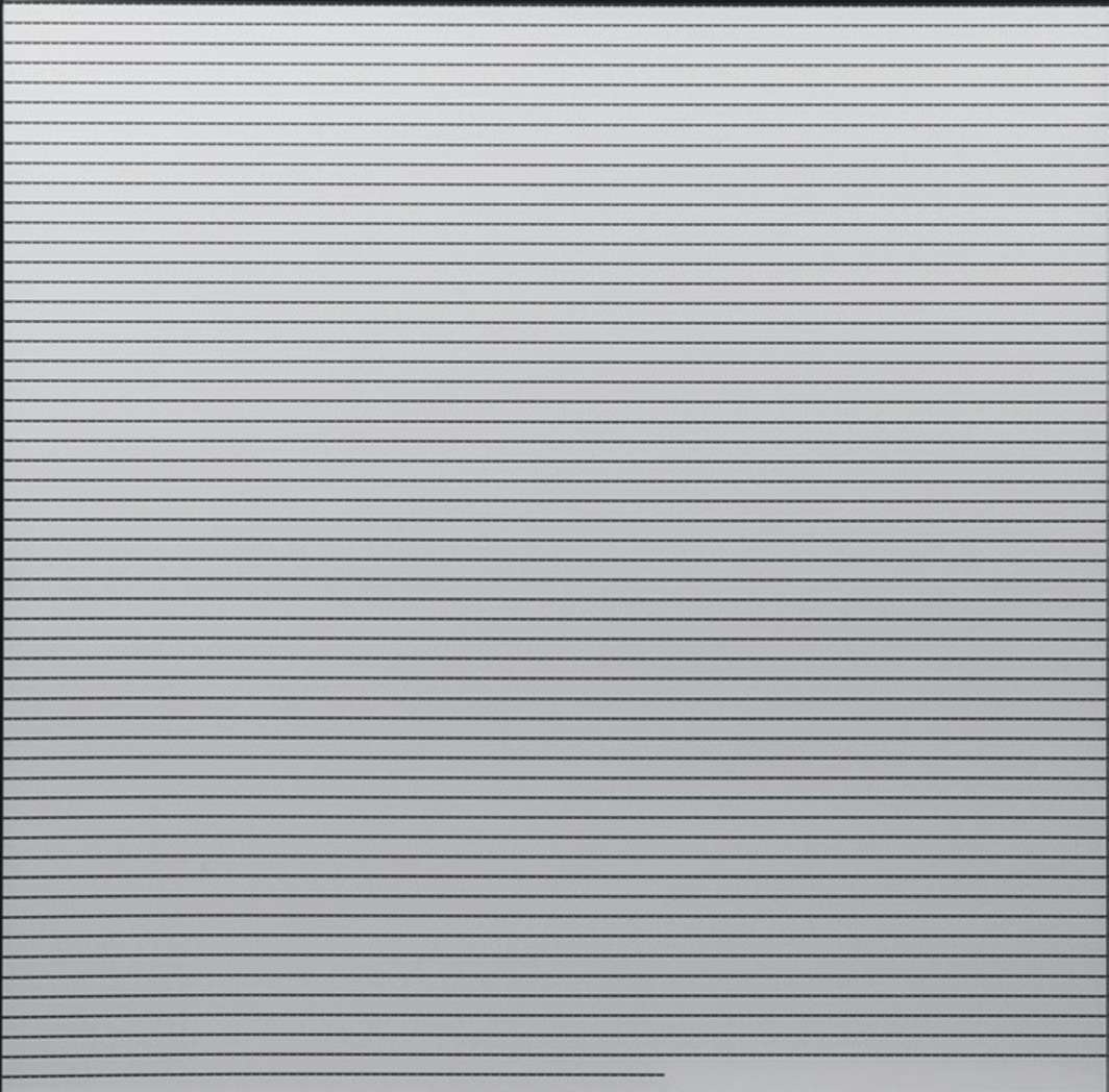 "Ryoji Ikeda, 4'33"", 2010, framed 16-mm film (blank with AATON timecode), 35 1/4 x 36 5/8"". From the series ""time and space,"" 2010–."