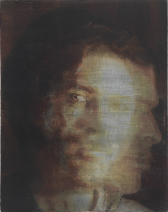 "Fabrice Samyn, From Matter, 2010, egg tempera and oil on canvas, 11 3/4 x 9 1/2""."