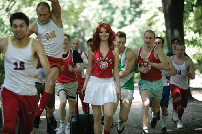 Katarzyna Kozyra, Cheerleader, 2006, still from a color video, 4 minutes 30 seconds.