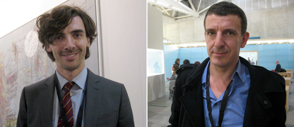 Left: Cardi Black Box's Edoardo Osculati. Right: Curator Jean-Max Colard.