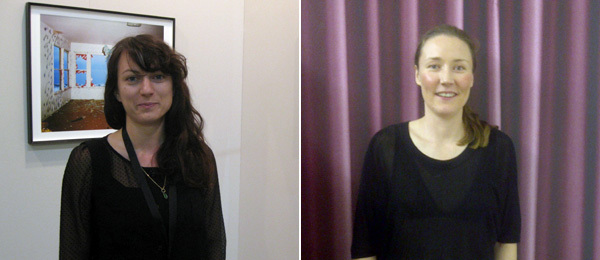 Left: Dealer Laura Bartlett. Right: Artist Becky Beasley. (Photo: Laura Bartlett)