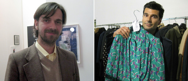 Left: Artist G. T. Pellizzi. Right: Artist Davide Bertocchi at the Social Club.