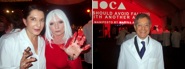 Left: Artist Marina Abramović and Debbie Harry. Right: Jeffrey Deitch, director of the Museum of Contemporary Art, Los Angeles. (All photos: Linda Yablonsky)
