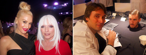 Left: Gwen Stefani and Debbie Harry. Right: Artist Francesco Vezzoli.