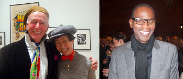 Left: Artist Billy Al Bengston with Wendy Al. Right: Artist Mark Bradford.