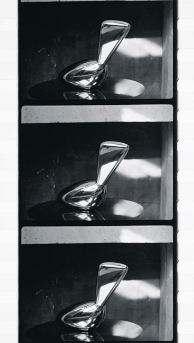 Constantin Brancusi, Leda en mouvement (Leda Moving), ca. 1936, strip from a black-and-white film in 35 mm, 37 seconds.