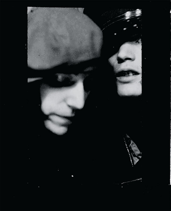 Patti Smith and Robert Mapple- thorpe in a photo booth on Forty-Second Street, New York, 1969. From Patti Smith, Just Kids (Ecco, 2010).