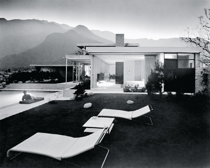 "Julius Shulman, Edgar J. Kaufmann House, Palm Springs, California, 1947, black-and-white photograph, 30 x 40"".