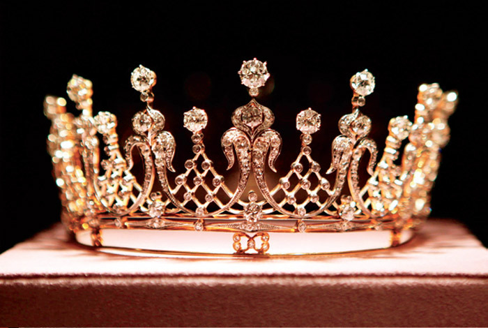 The Mike Todd diamond tiara, from the collection of Elizabeth Taylor, to be auctioned at Christie's on December 13, 2011. Photo: Krista Kennell/AP.