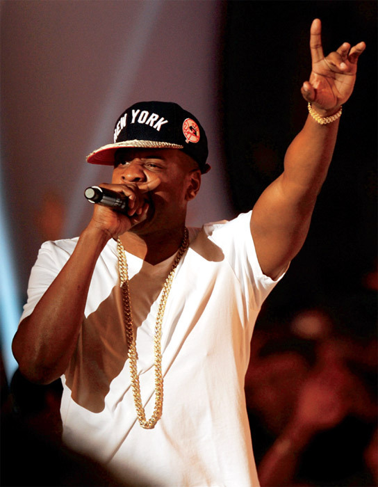 Jay-Z performing at the MTV Video Music Awards, Los Angeles, August 28, 2011. Photo: Kevin Winter/Getty Images.