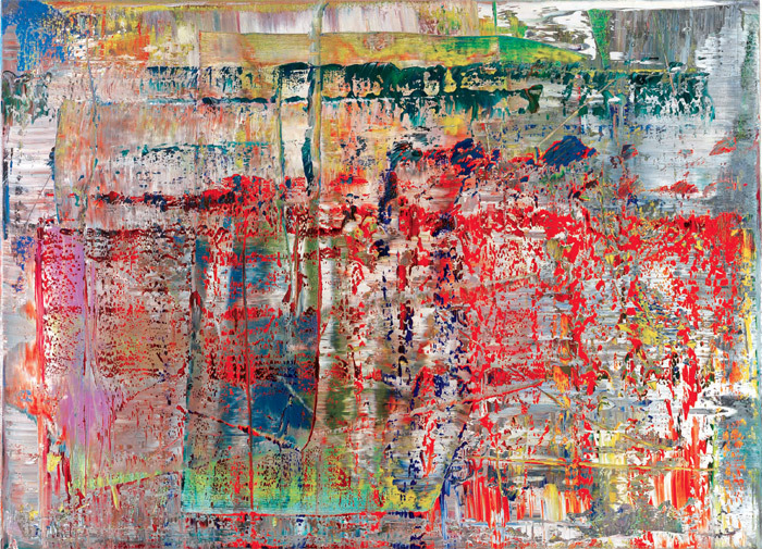 "Gerhard Richter, Abstraktes Bild (Abstract Painting), 1990, oil on canvas, 36 1/4 x 49 5/8""."