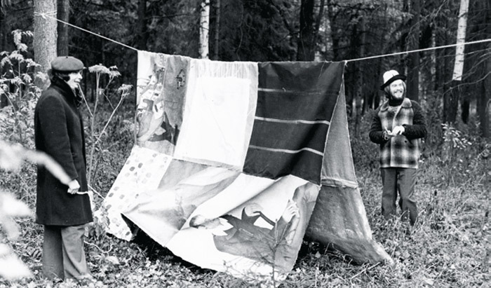 Collective Actions, The Tent, 1976. Performance view, outside Moscow, October 2, 1976.