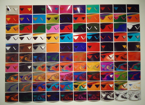 "Quisqueya Henriquez, 99 bad mirrors, 2011, one hundred color photographs, 50 x 70""."