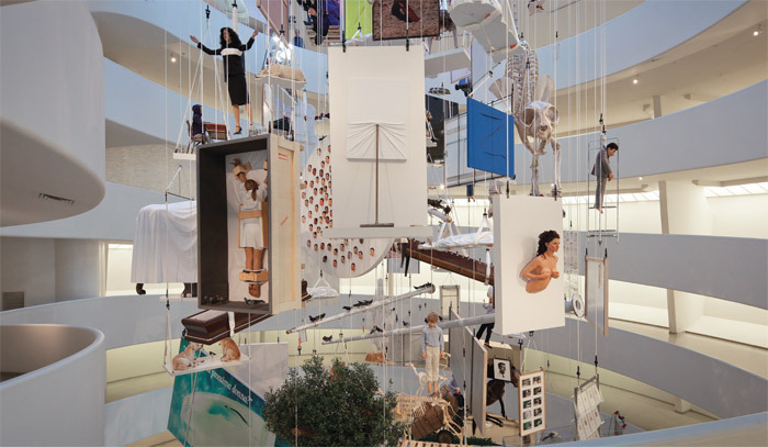 "View of ""Maurizio Cattelan: All,"" 2011. Photo: David Heald."