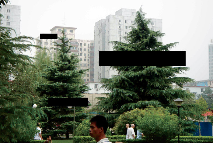 "Liu Wei's proposal for exterior installation of ""Dark Matter,"" ca. 2008, at the China Academy of Art, Hangzhou."