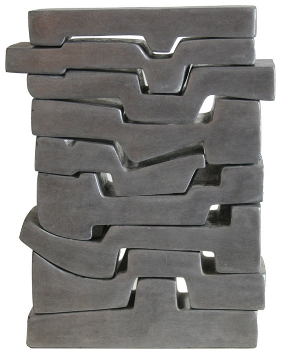 "Saloua Raouda Choucair, Poem In Nine Verses, 1966–68, aluminum, 11 3/8 x 8 5/8 x 2 3/4""."