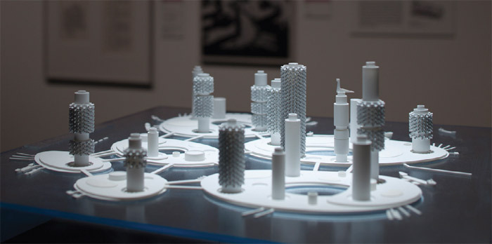"Kiyonori Kikutake, Marine City 1963, ca. 1985. Model. From ""Metabolism: City in the Future."""