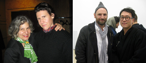 Left: Artists Amy Sillman and Collier Schorr. Right: MoMA associate curators Christian Rattemeyer and Doryun Chong.