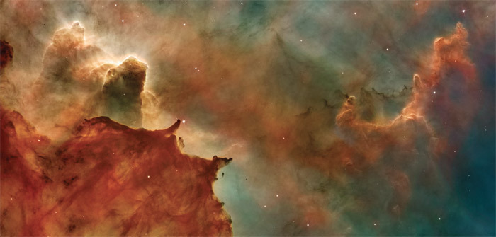 *NASA rendering of the Hubble Space Telescope image of the Carina Nebula.* Photo: NASA/ESA/N. Smith and the Hubble Heritage Team/STScI/AURA.