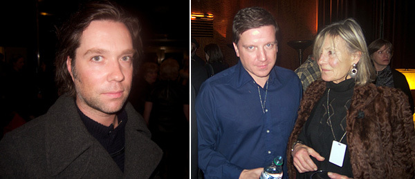 Left: Rufus Wainwright. Right: Artists Space director Stefan Kalmar with Clarissa Dalrymple.