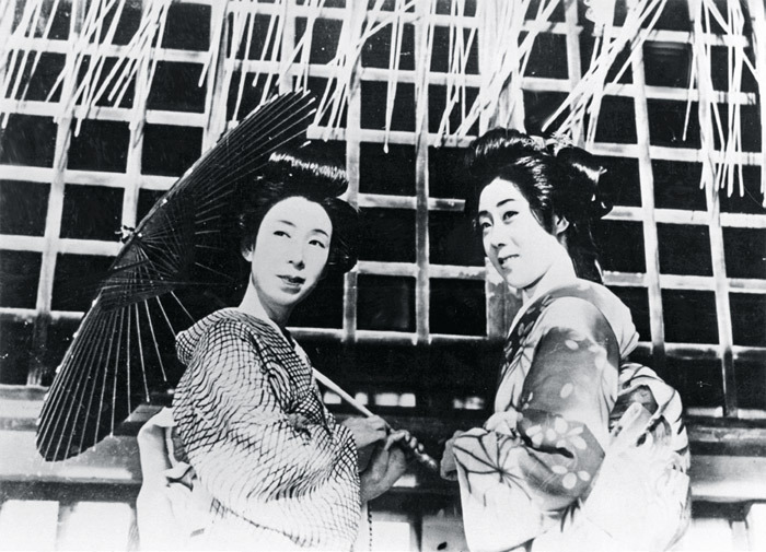*Kenji Mizoguchi, _Sisters of the Gion_, 1936*, still from a black-and-white film in 35 mm, 69 minutes.