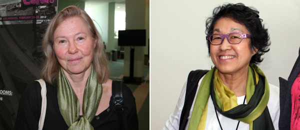 Left: Artist Faith Wilding. Right: Artist Norie Sato.