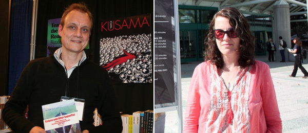 Left: Sociologist Adrian Favell. Right: Artist Tammy Rae Carland.