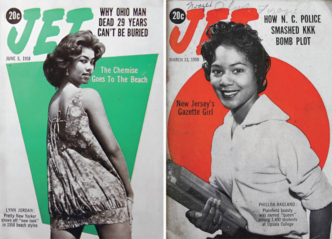 *Covers of _Jet_* (left: *June 5, 1958*; right: *March 13, 1958*).