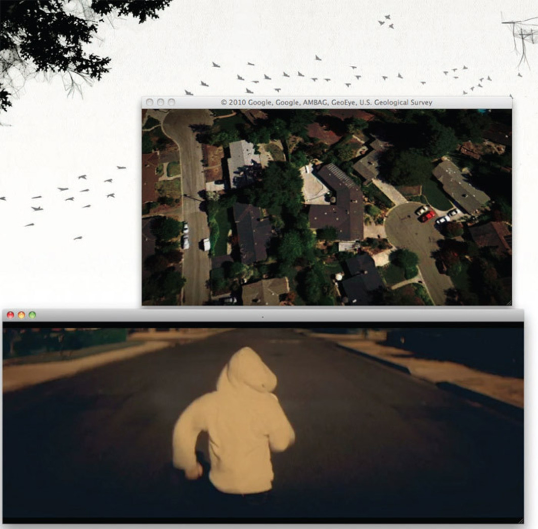 *Chris Milk and Aaron Koblin, _The Wilderness Downtown_, 2011*, screenshot from an interactive online project.