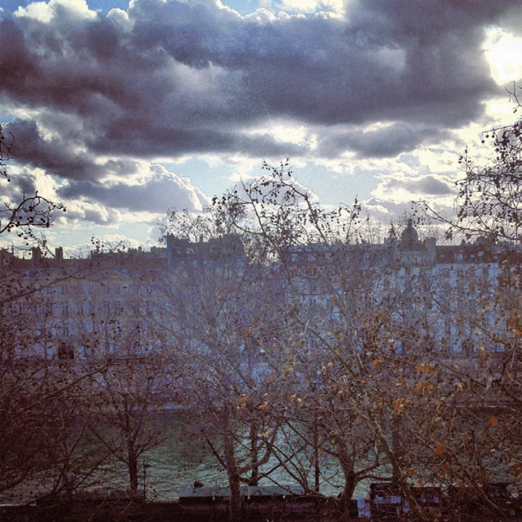 *View of the Left Bank, Paris, from Hank Willis Thomas's studio, February 20, 2012. *