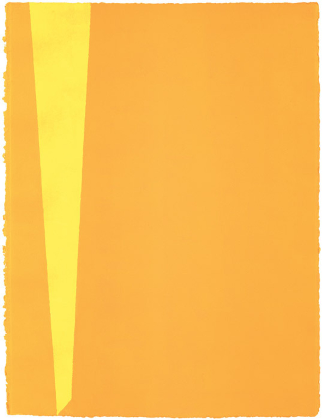 "Anne Truitt, Untitled, 1986, acrylic on paper, 30 1/4 x 23""."