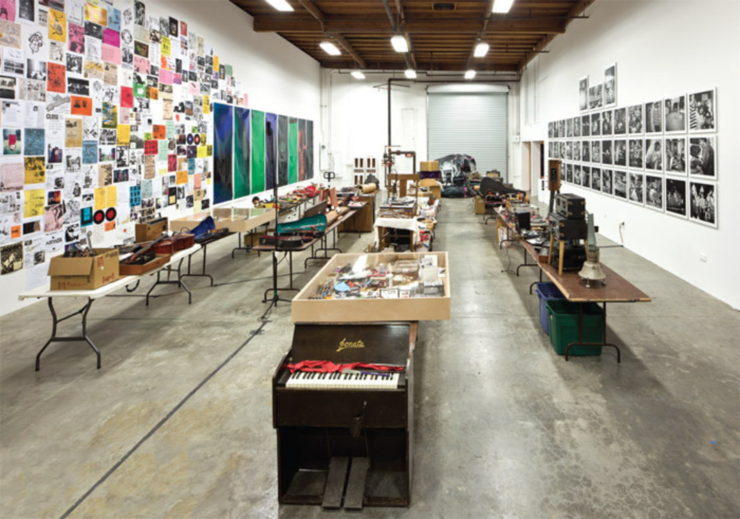 "View of ""Beneath the Valley of the Lowest Form of Music: The Los Angeles Free Music Society (1972–2012),"" 2012."