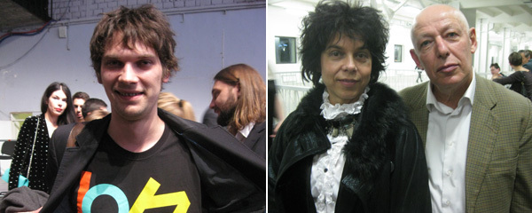 Left: Critic Valentin Diaconov. Right: Jara Boubnova, curator of the 2nd Ural Industrial Biennale, and Joseph Backstein.