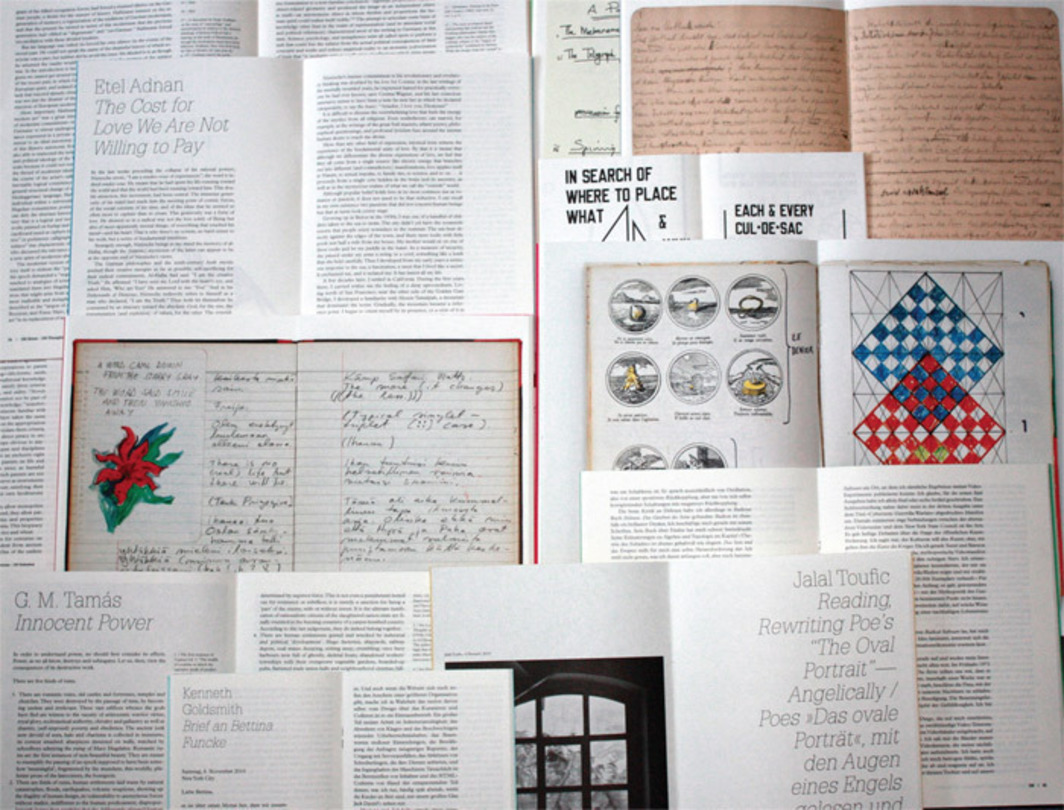 A selection from Documenta 13's 100 Notes—100 Thoughts publication series (Hatje Cantz, 2011–12). Photo: Dirk Schwarz.