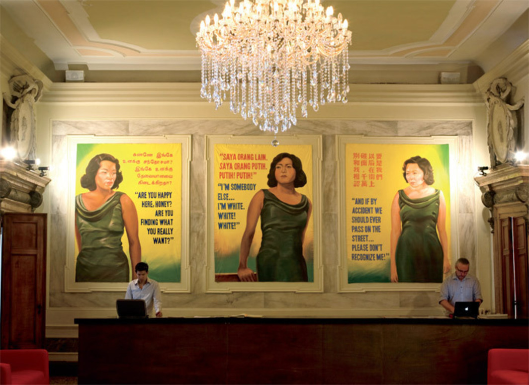 Ming Wong, Life of Imitation, 2009, four billboards, acrylic on canvas. Installation view, Singapore pavilion, Venice. From the 53rd Venice Biennale.