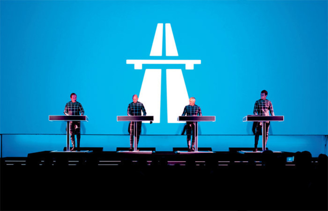 "Kraftwerk performing as part of ""Kraftwerk–Retrospective 1 2 3 4 5 6 7 8"" at the Museum of Modern Art, New York, April 10, 2012. Photo: Peter Boettcher."
