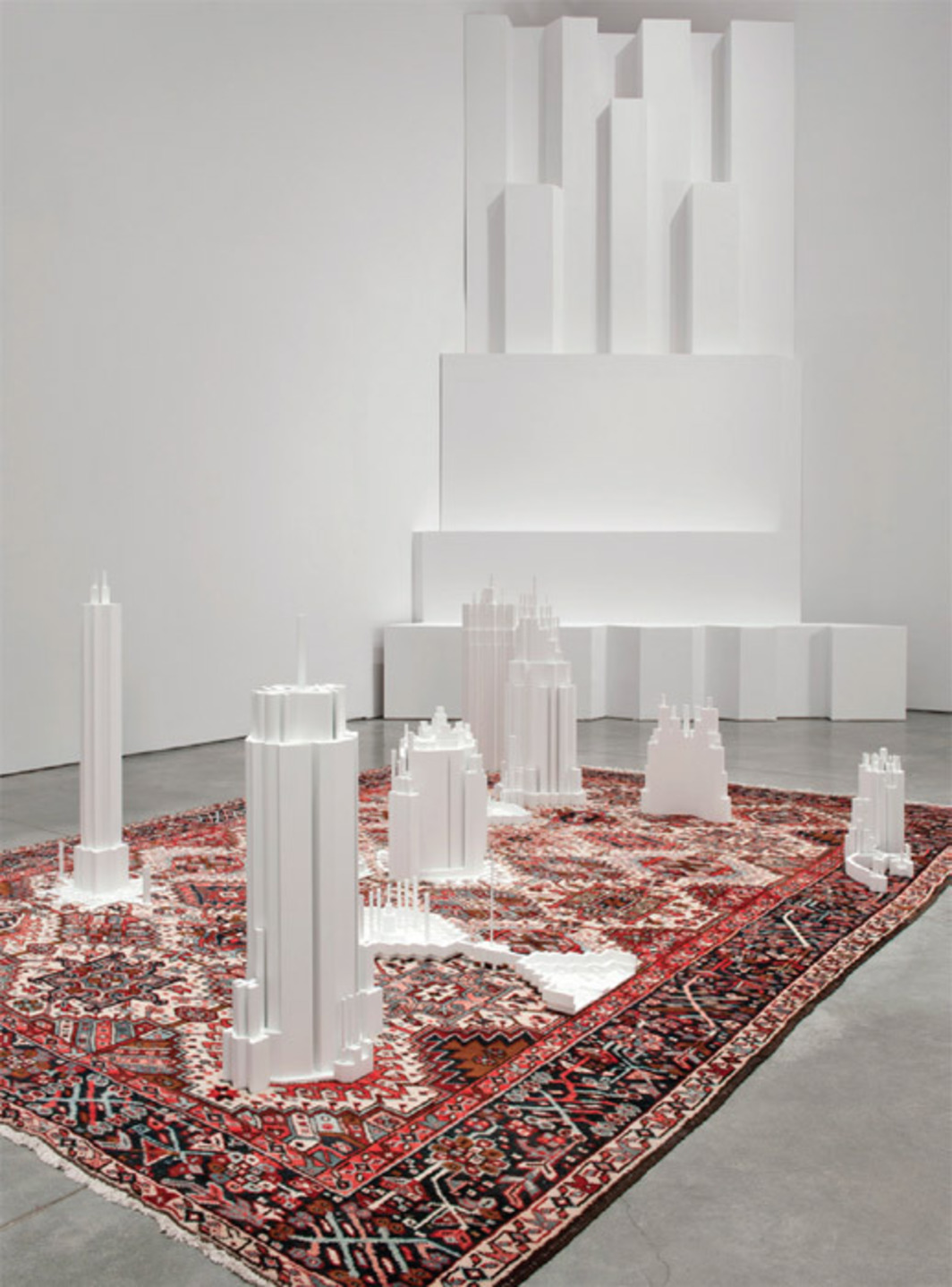 Babak Golkar, Grounds for Standing and Understanding (detail), 2012, mixed media, dimensions variable.