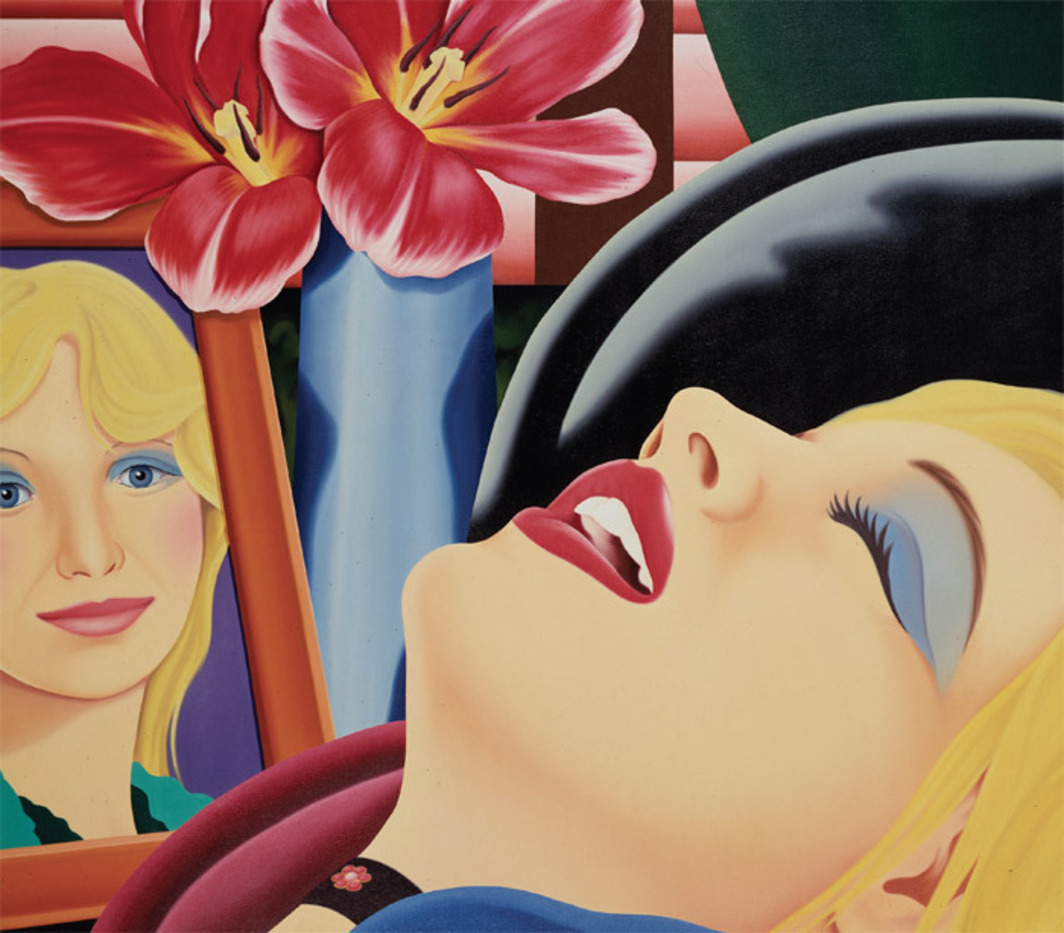 "Tom Wesselmann, Bedroom Painting No. 38, 1978, oil on canvas, 84 x 97""."