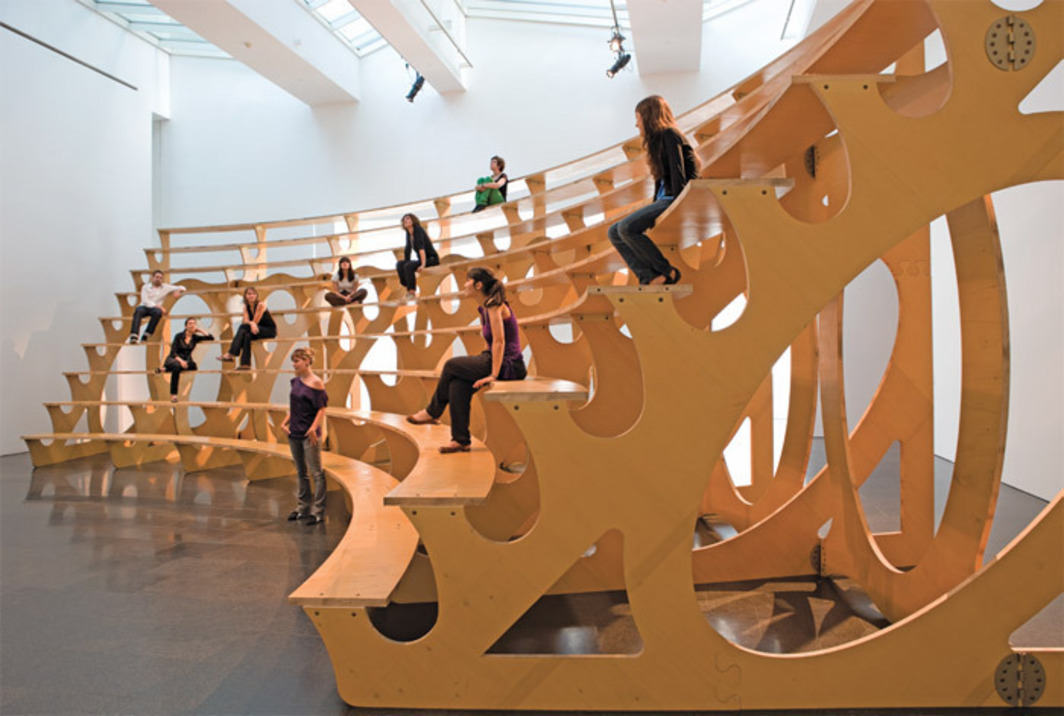 Rita McBride, Arena, 1997, Twaron, wood. Installation view, Museu d'Art Contemporani de Barcelona, 2009. Photo: Tony Coll.