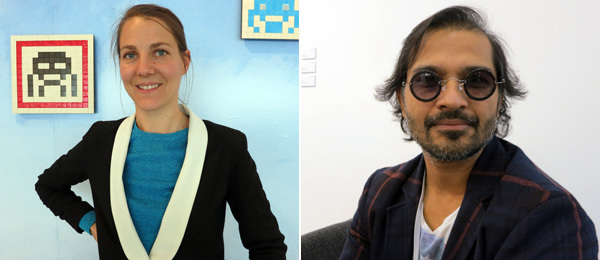 Left: Dealer Alice van den Abeele. Right: Dealer Abhay Maskara.