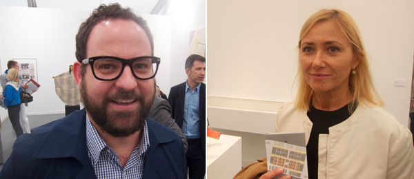 Left: Artist Mungo Thompson. Right: MoMA curator Roxana Marcoci.