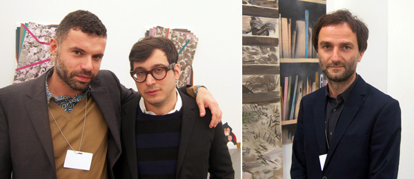 Left: Dealers Daniele Balice and David Lewis. Right: Dealer Andrzei Przywara.