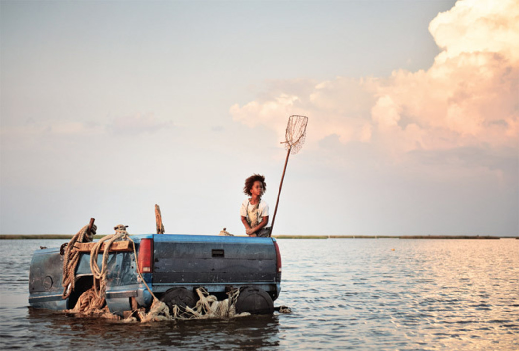 Benh Zeitlin, Beasts of the Southern Wild, 2012, color film in Super 16 mm, 91 minutes. Hushpuppy (Quvenzhané Wallis). Production still. Photo: Jess Pinkham.