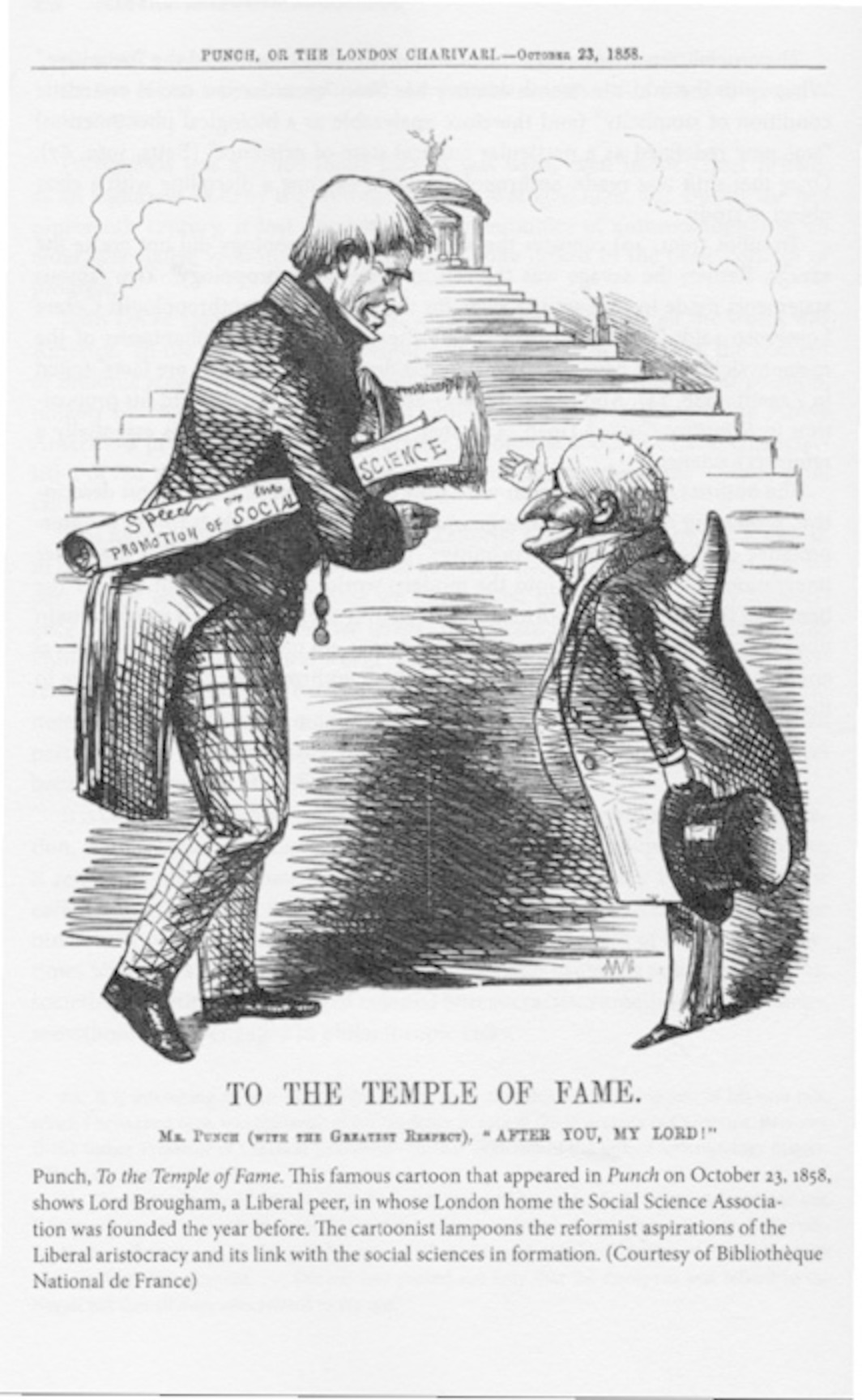 Page from Immanuel Wallerstein, The Modern World System IV: Centrist Liberalism Triumphant, 1789–1914 (University of California Press, 2011). Reproduction of a cartoon from Punch (October 23, 1858).