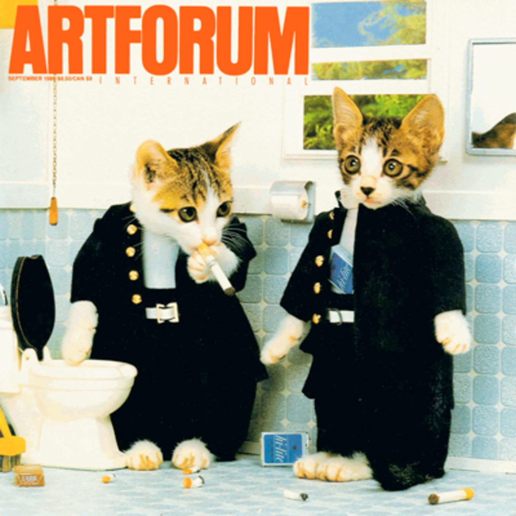 "Satoru Tsuda (scenario) and Toshi Wakita (photograph), from the series ""Perlorian Cats,"" 1982, color photograph. Courtesy of Satoru Tsuda/Social Licensing."
