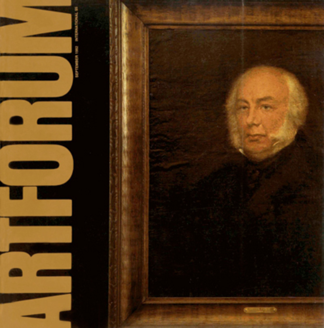 In honor of Artforum's twentieth anniversary and in keeping with current art practice we would like to appropriate from the past this image of our noble founder, Arthur Forum.