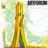 "Claes Oldenburg, Late Submission to the Chicago Tribune Architectural Competition, 1932, #1: Clothespin, crayon, 30x22"", 1967"